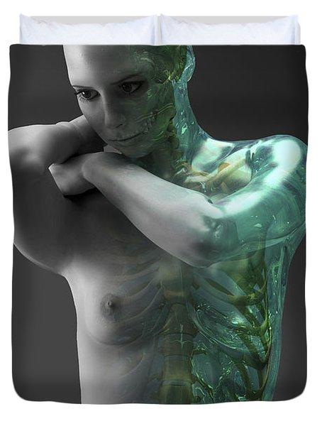 Bones Of The Upper Body Female Duvet Cover