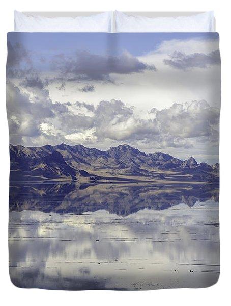 Bonneville Salt Flats Duvet Cover