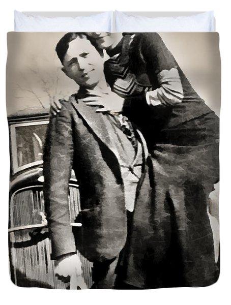 Bonnie And Clyde - Texas Duvet Cover