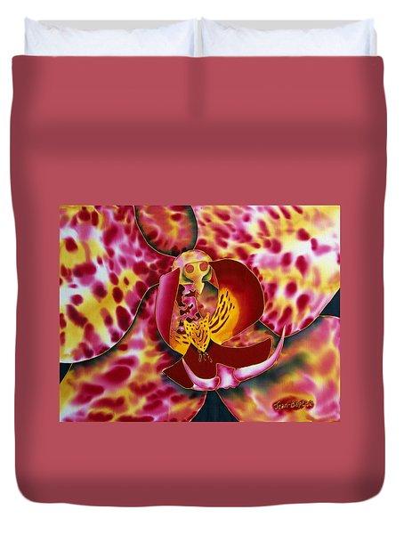Bonnie Orchid IIi Duvet Cover by Daniel Jean-Baptiste