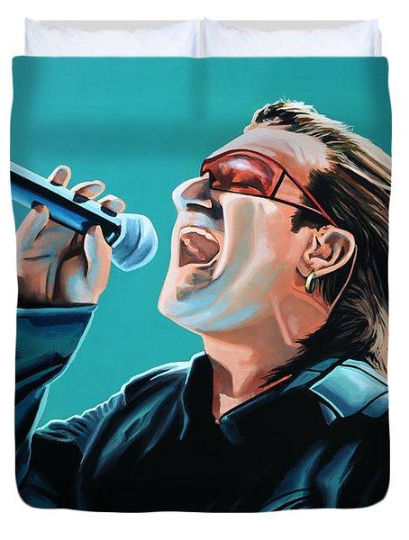 Bono Of U2 Painting Duvet Cover