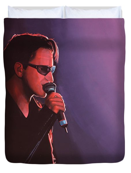Bono U2 Duvet Cover by Paul Meijering