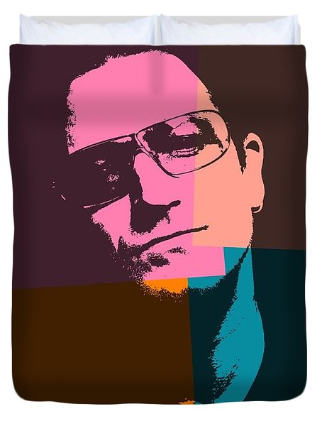 Bono Pop Art Duvet Cover