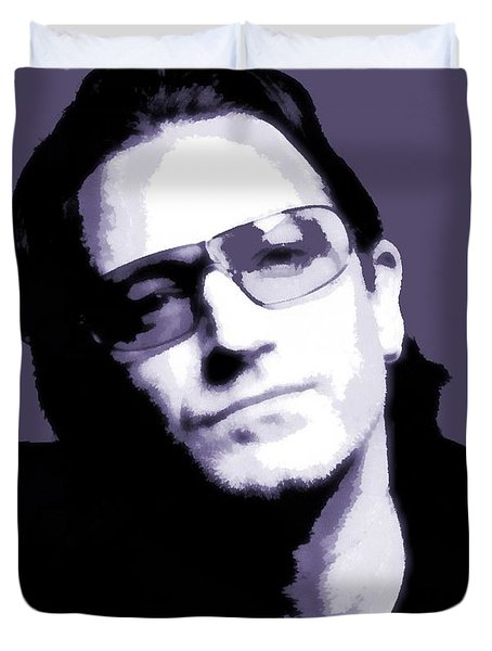 Bono Portrait Duvet Cover by Dan Sproul