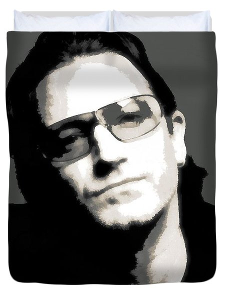 Bono Poster Duvet Cover by Dan Sproul