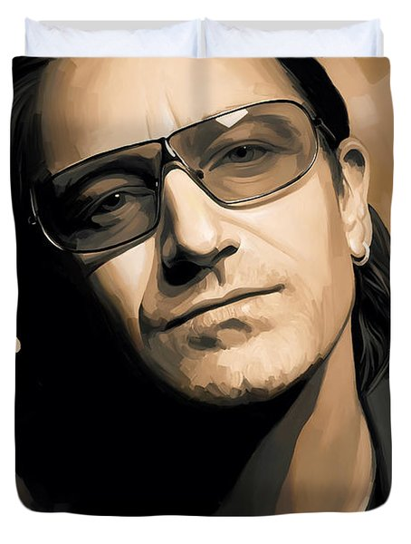 Bono U2 Artwork 2 Duvet Cover by Sheraz A