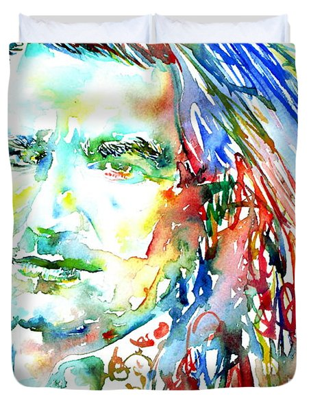 Bono Watercolor Portrait.2 Duvet Cover