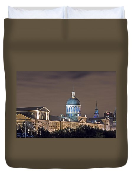 Bonsecours At Night Duvet Cover