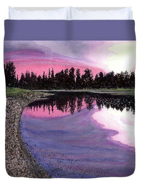 Bonsette's Sunset Duvet Cover by Joel Deutsch