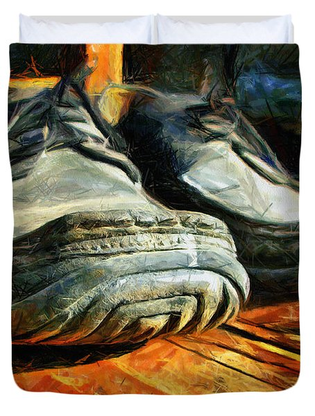 Boogie Shoes - Walking Story - Drawing Duvet Cover