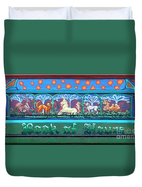 Book Of Hours Duvet Cover by Genevieve Esson