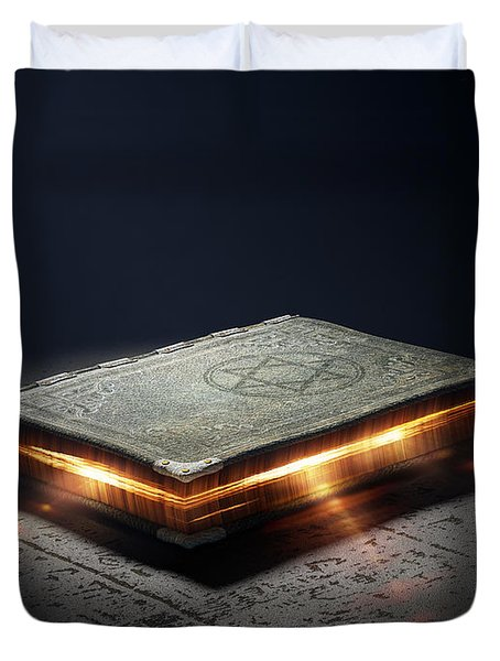 Book With Magic Powers Duvet Cover