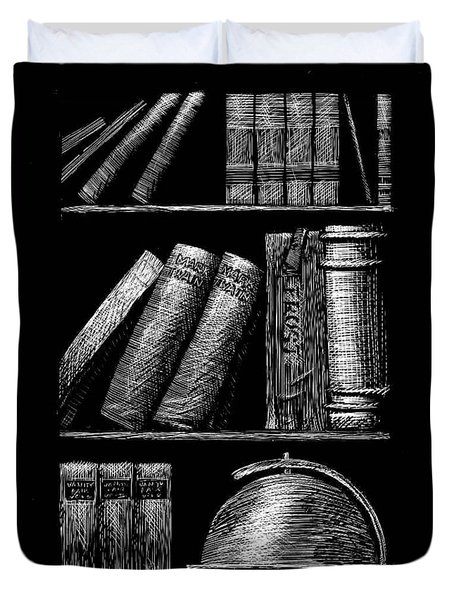 Books On Shelves Duvet Cover