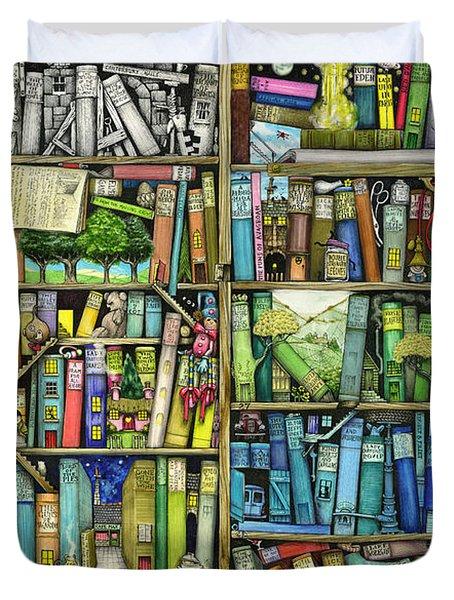 Bookshelf Duvet Cover by Colin Thompson