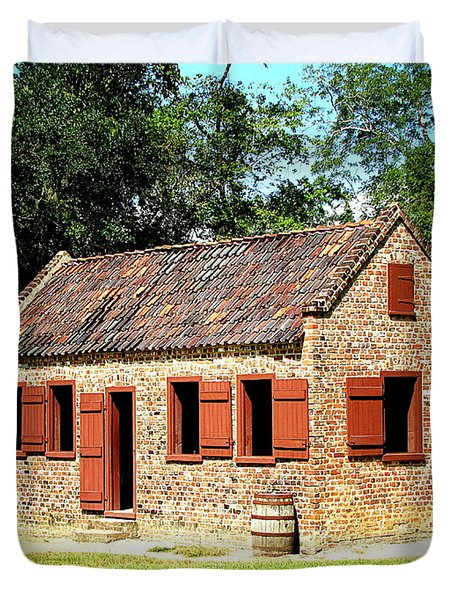 Boone Hall Plantation Slave Quarters Duvet Cover
