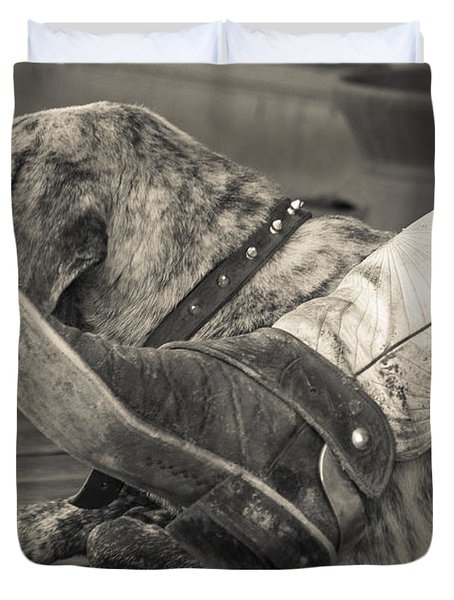 Duvet Cover featuring the photograph Boot Scootin by Steven Bateson