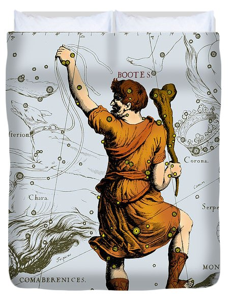 Bootes Constellation, 1687 Duvet Cover by Science Source