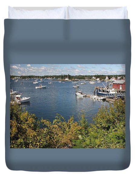 Boothbay Harbor Vista Duvet Cover