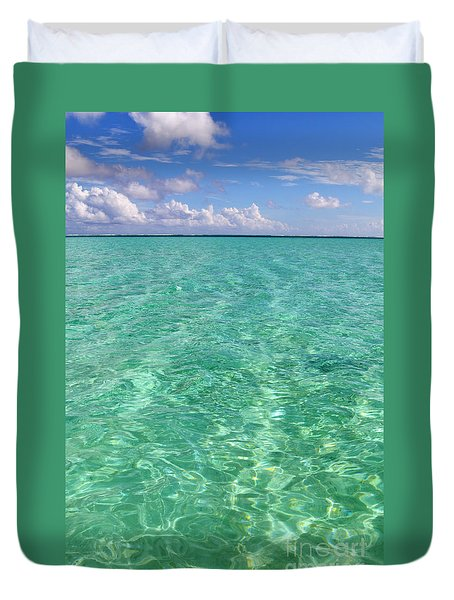 Bora Bora Green Water II Duvet Cover
