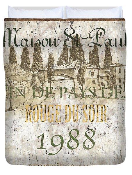Bordeaux Rouge 1 Duvet Cover