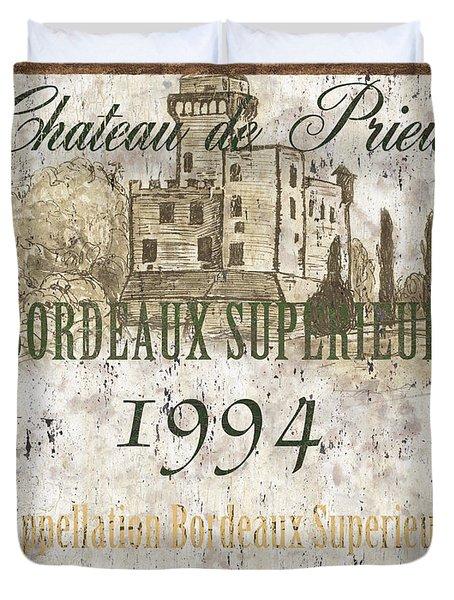 Bordeaux Rouge 2 Duvet Cover