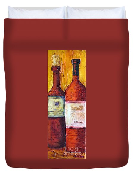 Bordeaux Vino Duvet Cover