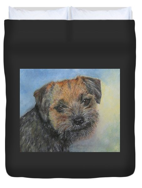 Border Terrier Jack Duvet Cover by Richard James Digance