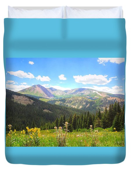 Boreas Pass Summer Duvet Cover