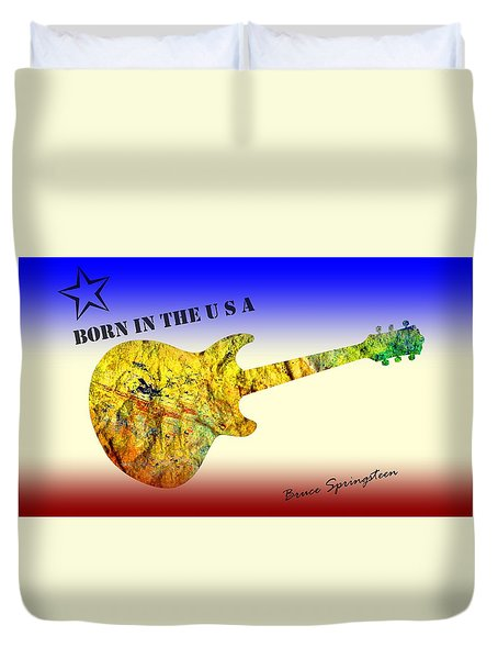 Born In The U S A Bruce Springsteen Duvet Cover