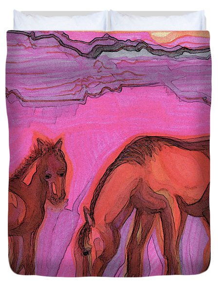 Born On The Mesa By Jrr Duvet Cover
