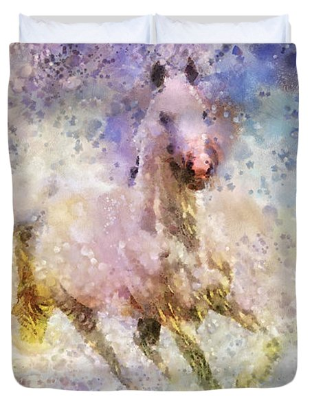 Born To Be Wild Duvet Cover by Mo T