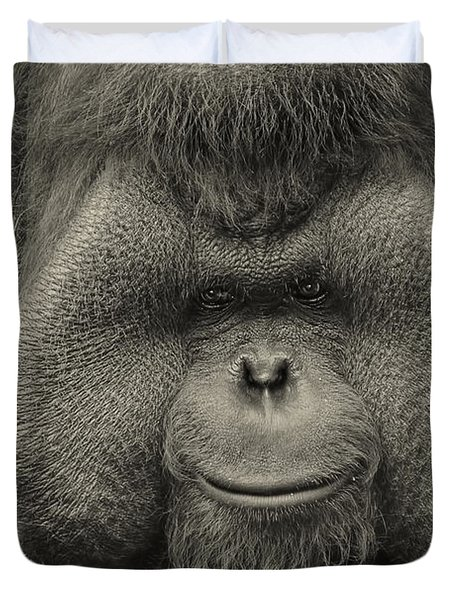 Bornean Orangutan II Duvet Cover by Lourry Legarde