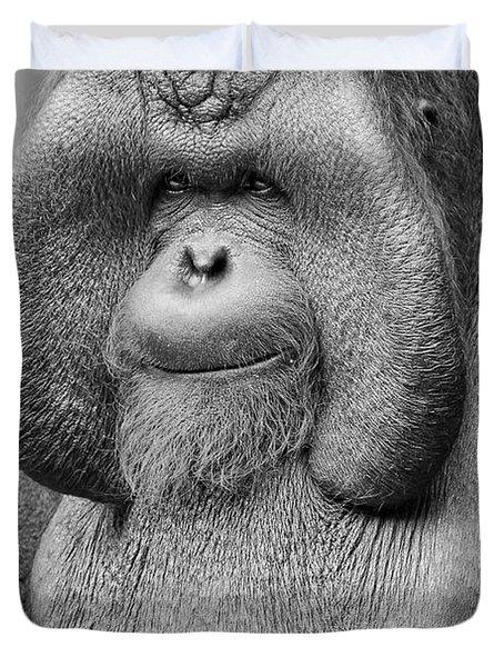 Bornean Orangutan IIi Duvet Cover by Lourry Legarde