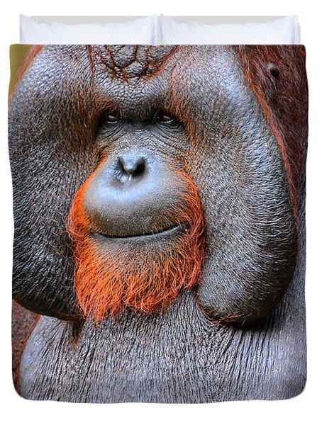 Bornean Orangutan Iv Duvet Cover by Lourry Legarde