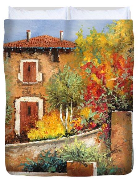 Bosco Giallo Duvet Cover by Guido Borelli