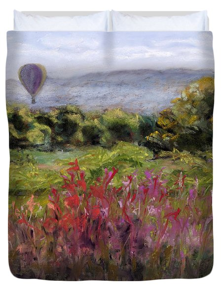 Bosque Balloon View Duvet Cover