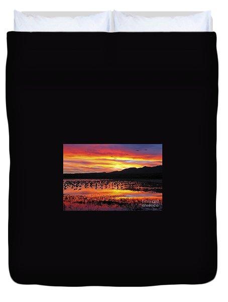 Bosque Sunset II Duvet Cover by Steven Ralser