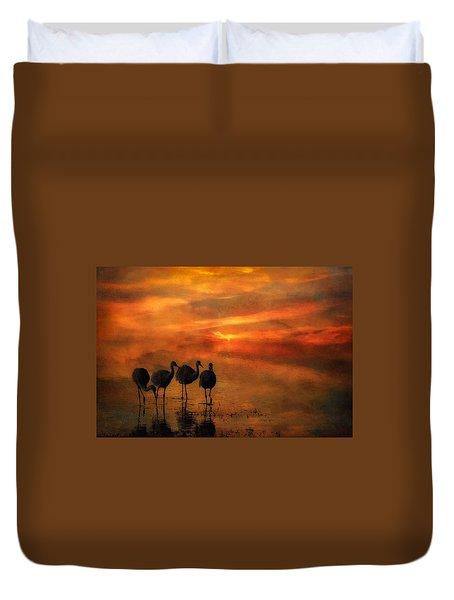 Bosque Sunset Duvet Cover by Priscilla Burgers
