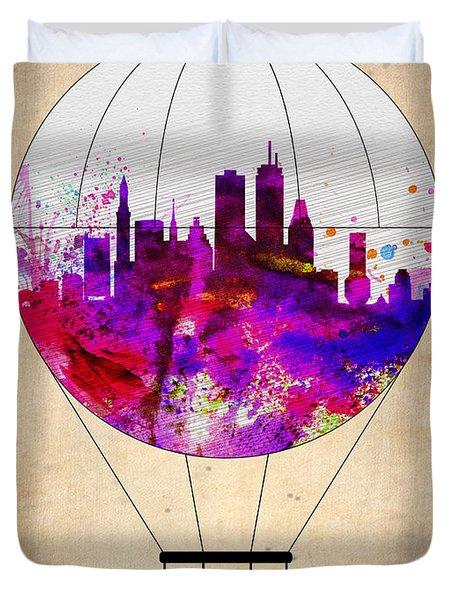 Boston Air Balloon Duvet Cover by Naxart Studio