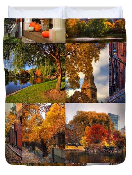 Boston Autumn Days Duvet Cover by Joann Vitali