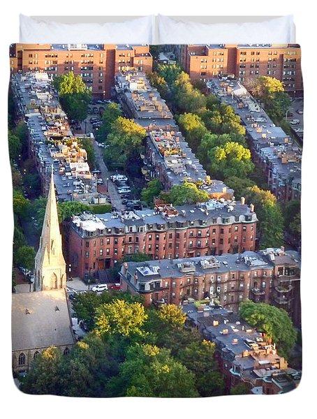 Boston Church Duvet Cover by Cheryl Del Toro