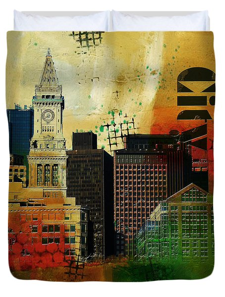Boston City Collage 2 Duvet Cover