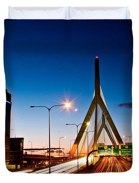 Boston Garden And Bunker Hill Bridge  Duvet Cover