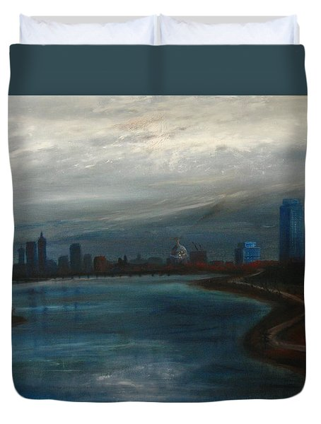 Boston Good Friday 1971 Duvet Cover