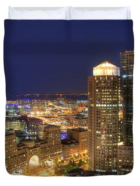 Boston Harbor Hotel Skyline Duvet Cover by Joann Vitali
