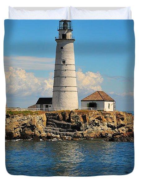 Boston Light Duvet Cover by Catherine Reusch Daley