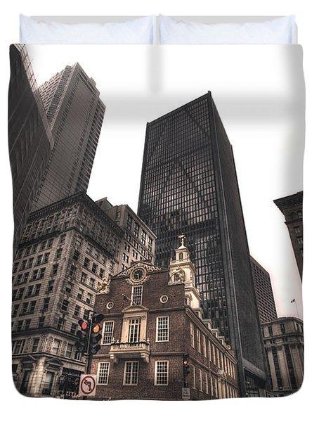 Boston Old State House Duvet Cover by Joann Vitali