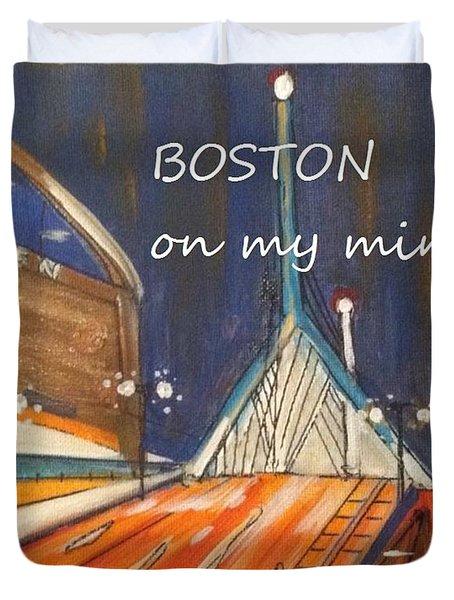 Boston On My Mind Duvet Cover