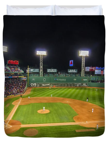 Boston Red Sox And New York Yankees At Fenway Park - Art Duvet Cover
