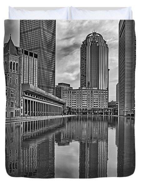 Boston Reflections Bw Duvet Cover